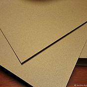 Бумага ручной работы. Ярмарка Мастеров - ручная работа Крафт Картон Kraftpak  225гр формат 210х297 100 листов в упаковке. Handmade.