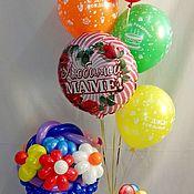 Подарки к праздникам ручной работы. Ярмарка Мастеров - ручная работа Цветы и шарики для мамы. Handmade.