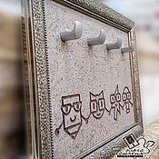 Картины и панно handmade. Livemaster - original item Copy of Copy of Key holder  «Family of nerds». Handmade.