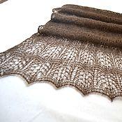 Аксессуары handmade. Livemaster - original item Knitted stole, fur stole, Dark peacock, the openwork scarf. Handmade.