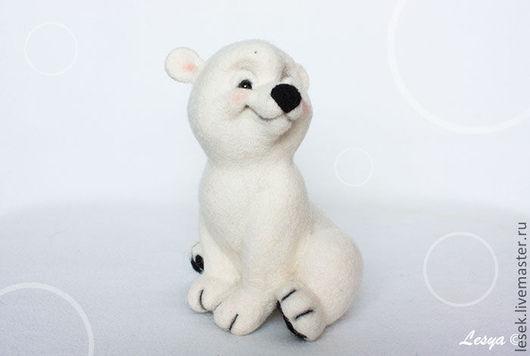 Игрушки животные, ручной работы. Ярмарка Мастеров - ручная работа. Купить Белый мишка Снежок. Handmade. Авторская работа, медвежонок