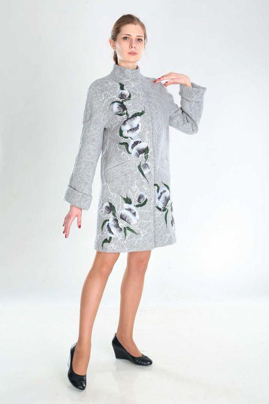 Верхняя одежда ручной работы. Ярмарка Мастеров - ручная работа. Купить ПС 25. Handmade. Серый, пальто, стиль