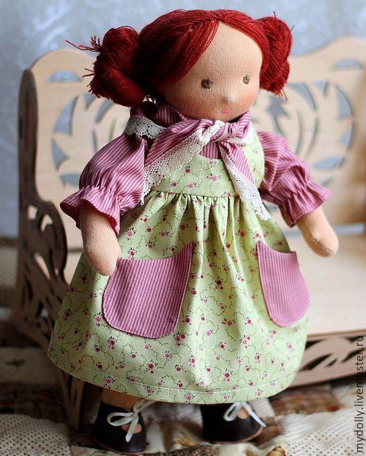 Вальдорфская игрушка ручной работы. Ярмарка Мастеров - ручная работа. Купить Вальдорфская кукла Варенька (32 см). Handmade.