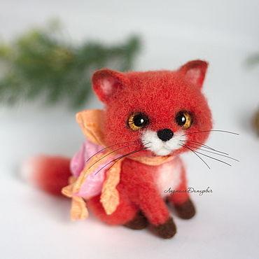 Куклы и игрушки ручной работы. Ярмарка Мастеров - ручная работа Лисичка игрушка валяная. Handmade.