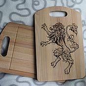 Посуда handmade. Livemaster - original item Cutting Board with engraving. Handmade.