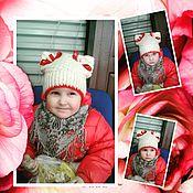 Работы для детей, ручной работы. Ярмарка Мастеров - ручная работа Комплект шапочка и шарф. Handmade.