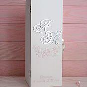 Свадебный салон handmade. Livemaster - original item Time capsule (box with wine lock). Handmade.