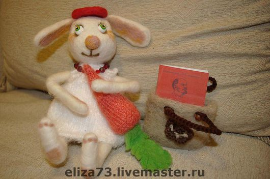 Игрушки животные, ручной работы. Ярмарка Мастеров - ручная работа. Купить Зайка. Handmade. Зайка, 100% шерсть
