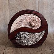 Для дома и интерьера ручной работы. Ярмарка Мастеров - ручная работа Деревянная шкатулка Инь-Ян. Handmade.