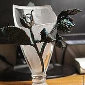 Дизайн и реклама handmade. Livemaster - original item Electroplating glass vase a Gift from the past. Handmade.