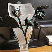 Дизайн и реклама handmade. Livemaster - original item Electroplating glass vase a Gift from the past. Handmade.
