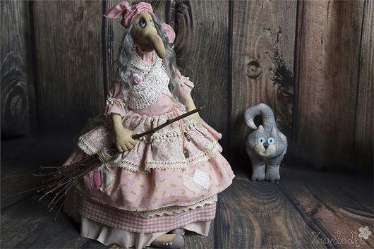 Сказочные персонажи ручной работы. Ярмарка Мастеров - ручная работа. Купить Баба-Яга. Handmade. Разноцветный, интерьерная кукла, ягуся
