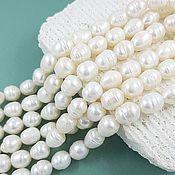 Материалы для творчества handmade. Livemaster - original item 10 PCs. Pearls of nature. 10-11 mm (thickness) white (5607). Handmade.