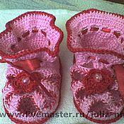 Работы для детей, ручной работы. Ярмарка Мастеров - ручная работа пинетки-сандалики. Handmade.
