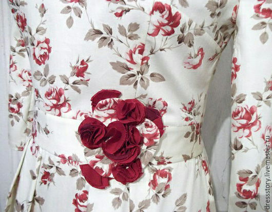 Платья ручной работы. Ярмарка Мастеров - ручная работа. Купить Платье из хлопка Rose garden.. Handmade. Кремовый, платья