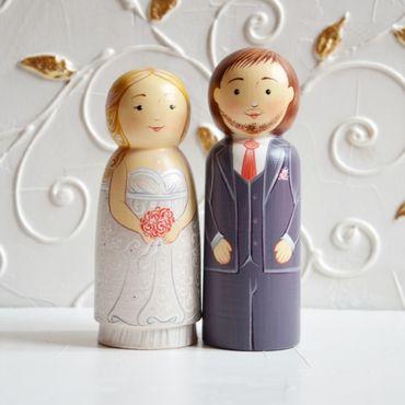 Свадебный салон ручной работы. Ярмарка Мастеров - ручная работа Топперы на торт, фигурки на свадебный торт, свадебные куклы. Handmade.