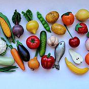 Кукольная еда ручной работы. Ярмарка Мастеров - ручная работа Овощи из полимерной глины. Handmade.