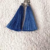 Украшения handmade. Livemaster - original item Earrings blue brush. Handmade.