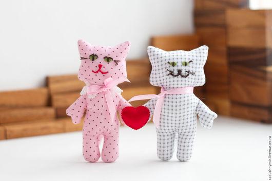 Игрушки животные, ручной работы. Ярмарка Мастеров - ручная работа. Купить Влюблённые. Handmade. Любовь, коты и кошки, голубой, хлопок