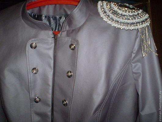 Верхняя одежда ручной работы. Ярмарка Мастеров - ручная работа. Купить Куртка  женская. Handmade. Серый, женская куртка
