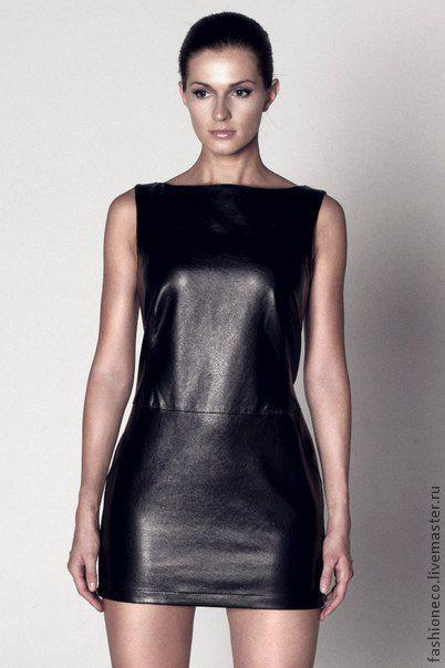 Платья ручной работы. Ярмарка Мастеров - ручная работа. Купить Платье черное из искусственной кожи. Handmade. Черный, искусственная кожа