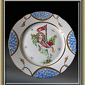 "Посуда handmade. Livemaster - original item Porcelain plate with hand painted ""Unicorn"". Handmade."