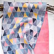 Аксессуары ручной работы. Ярмарка Мастеров - ручная работа Романтичный Нью-Йорк - шелковый шарф с ручной росписью. Handmade.