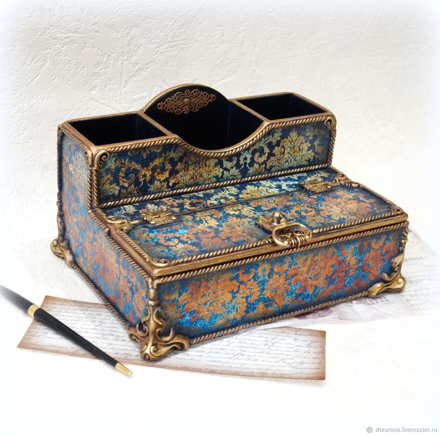 Table-top Desk organizer 'the Secrets of bygone days', Box, Moscow,  Фото №1