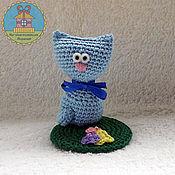 Куклы и игрушки ручной работы. Ярмарка Мастеров - ручная работа котик - подснежник. Handmade.