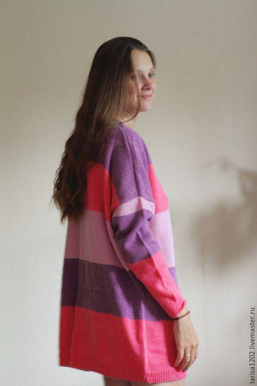 """Платья ручной работы. Ярмарка Мастеров - ручная работа. Купить Туника """"Ягодное настроение"""". Handmade. Фиолетовый, ягодный, пуловер"""