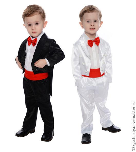 Одежда для мальчиков, ручной работы. Ярмарка Мастеров - ручная работа. Купить Смокинг для мальчика. Цвет любой.. Handmade. Чёрно-белый
