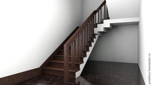 лестница на заказ, лестница выполняется по индивидуальным размерам