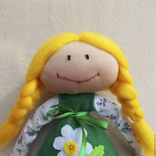 """Коллекционные куклы ручной работы. Ярмарка Мастеров - ручная работа. Купить Куколка """"Цветочная полянка"""". Интерьерная куколка. Куколка.. Handmade."""