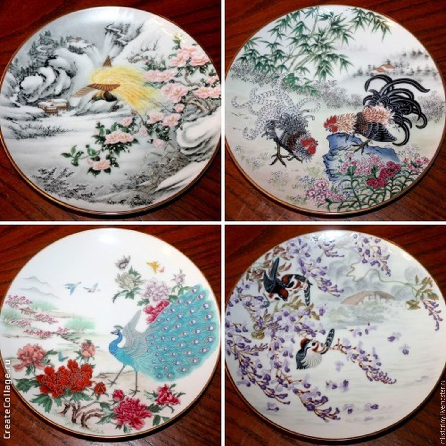 Vintage Interior Decor. Livemaster - handmade. Buy Decorative plates u0027Birds and flowers of ... & Decorative plates