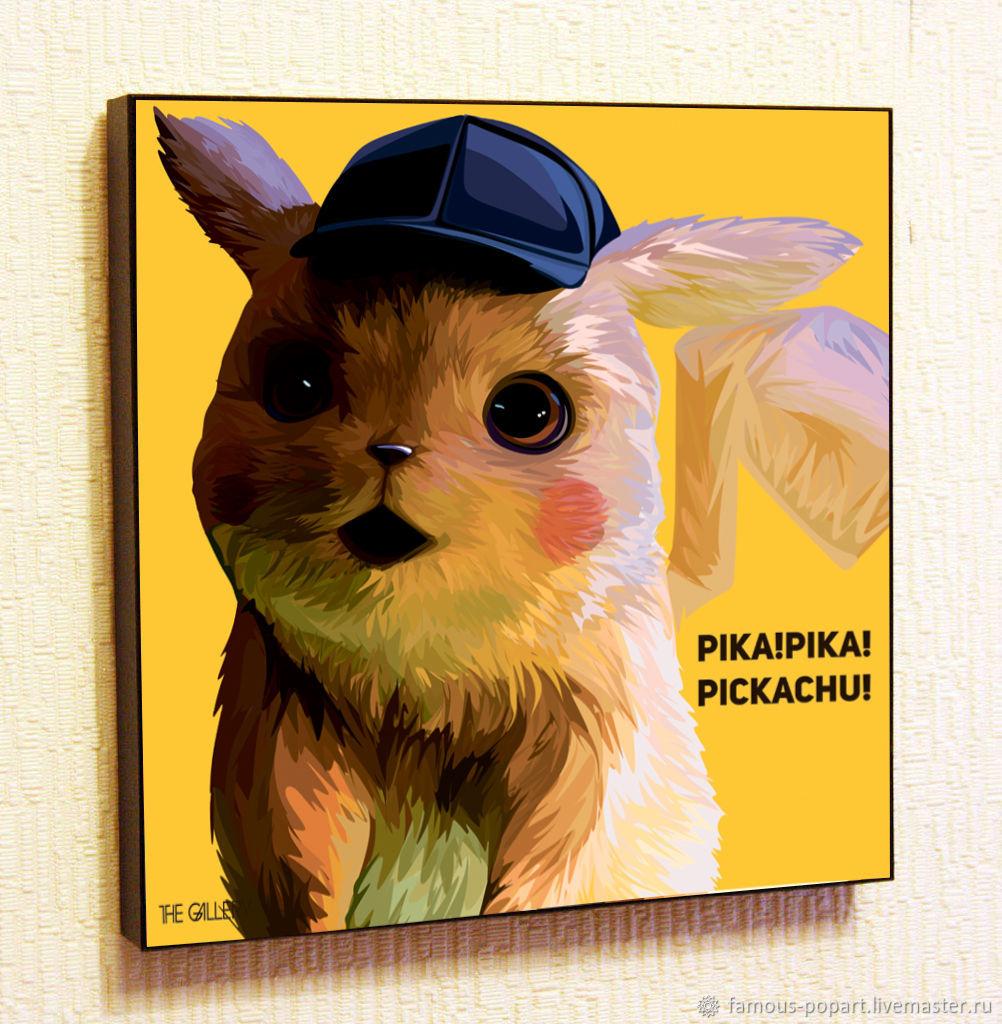 Picture Poster Pikachu Pokemon Anime Pop Art, Fine art photographs, Moscow,  Фото №1