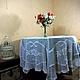 Белоснежная, кружевная скатерть (d 180см) на круглый стол. Украсит Ваш дом в Новогоднюю ночь!