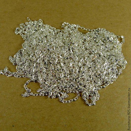 Для украшений ручной работы. Ярмарка Мастеров - ручная работа. Купить Серебряная цепочка из стерлингового серебра 925 пробы Метраж. Handmade.
