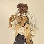 Мягкие игрушки ручной работы. Ярмарка Мастеров - ручная работа Вязаная каркасная кукла Баба Яга. Handmade.