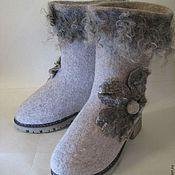 """Обувь ручной работы. Ярмарка Мастеров - ручная работа Валенки """"Снежный цветок"""". Handmade."""