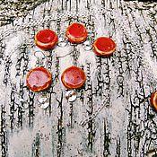 Украшения ручной работы. Ярмарка Мастеров - ручная работа Комплект украшений из керамических бусин. Handmade.