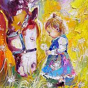 Картины и панно handmade. Livemaster - original item My good horse - painting on canvas. Handmade.