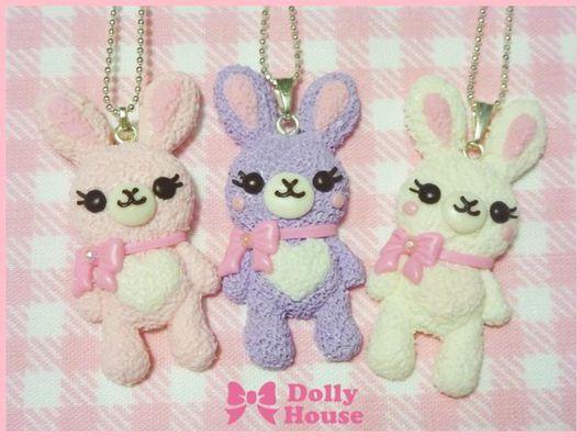 """Колье, бусы ручной работы. Ярмарка Мастеров - ручная работа. Купить Колье """"Cutie Rabbit"""". Handmade. Dolly house"""