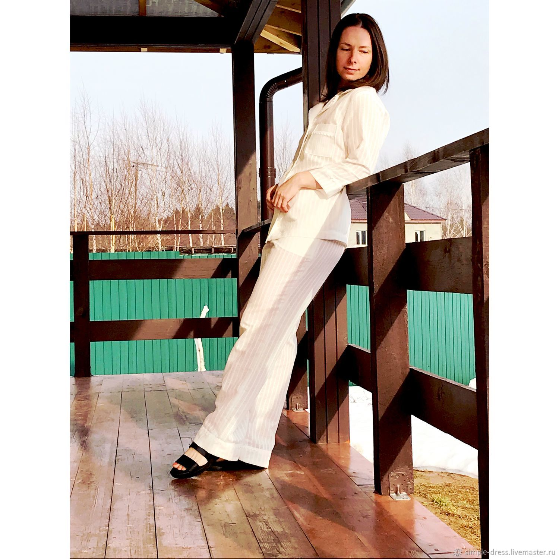 Нежная льняная пижама, Комбинации, Москва,  Фото №1