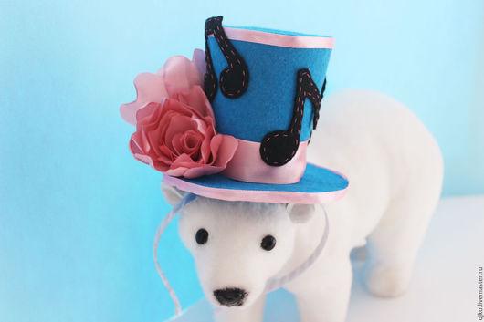"""Шляпы ручной работы. Ярмарка Мастеров - ручная работа. Купить мини-шляпка """"Цветочная мелодия"""". Handmade. Синий, розы, обруч"""