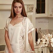 Одежда ручной работы. Ярмарка Мастеров - ручная работа Комплект из шелкового халатика кимоно D2 и ночной сорочки D9. Handmade.