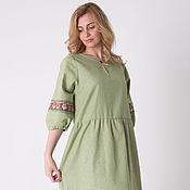 Одежда ручной работы. Ярмарка Мастеров - ручная работа Платье из льна Мария П-67. Handmade.