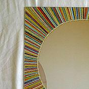 """Для дома и интерьера ручной работы. Ярмарка Мастеров - ручная работа """"Я - Солнце"""", декоративное зеркало для оформления дома. 30 х 30 см. Handmade."""