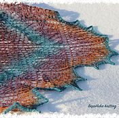 Аксессуары ручной работы. Ярмарка Мастеров - ручная работа Ажурная шаль Филигрань, 100% шерсть. Handmade.