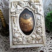 """Медальон """"Ангел""""в подарочной коробке"""