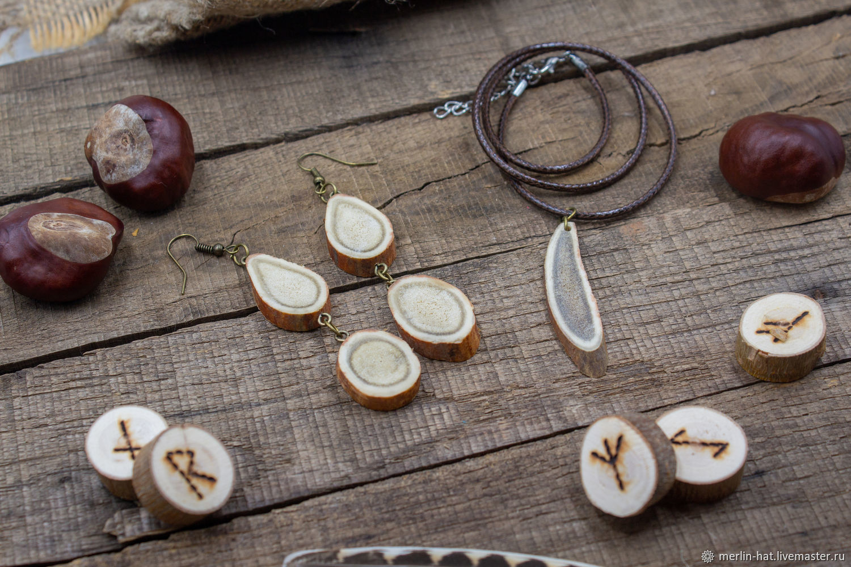 Tundra jewelry set (Pendant Earrings), Folk decorations, Tambov,  Фото №1